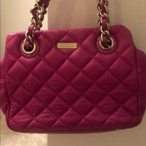 Kate spade hot pink quilted purse